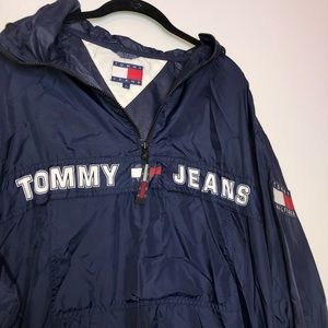 Tommy Hilfiger Jackets & Coats - Tommy Hilfiger SpellOut Thin Rain Jacket Pullover